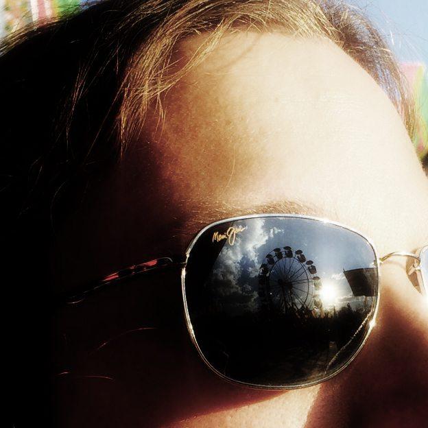 carny sunglasses close-up